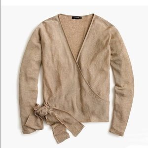 J. Crew NWOT Linen Wrapped Cardigan Sweater